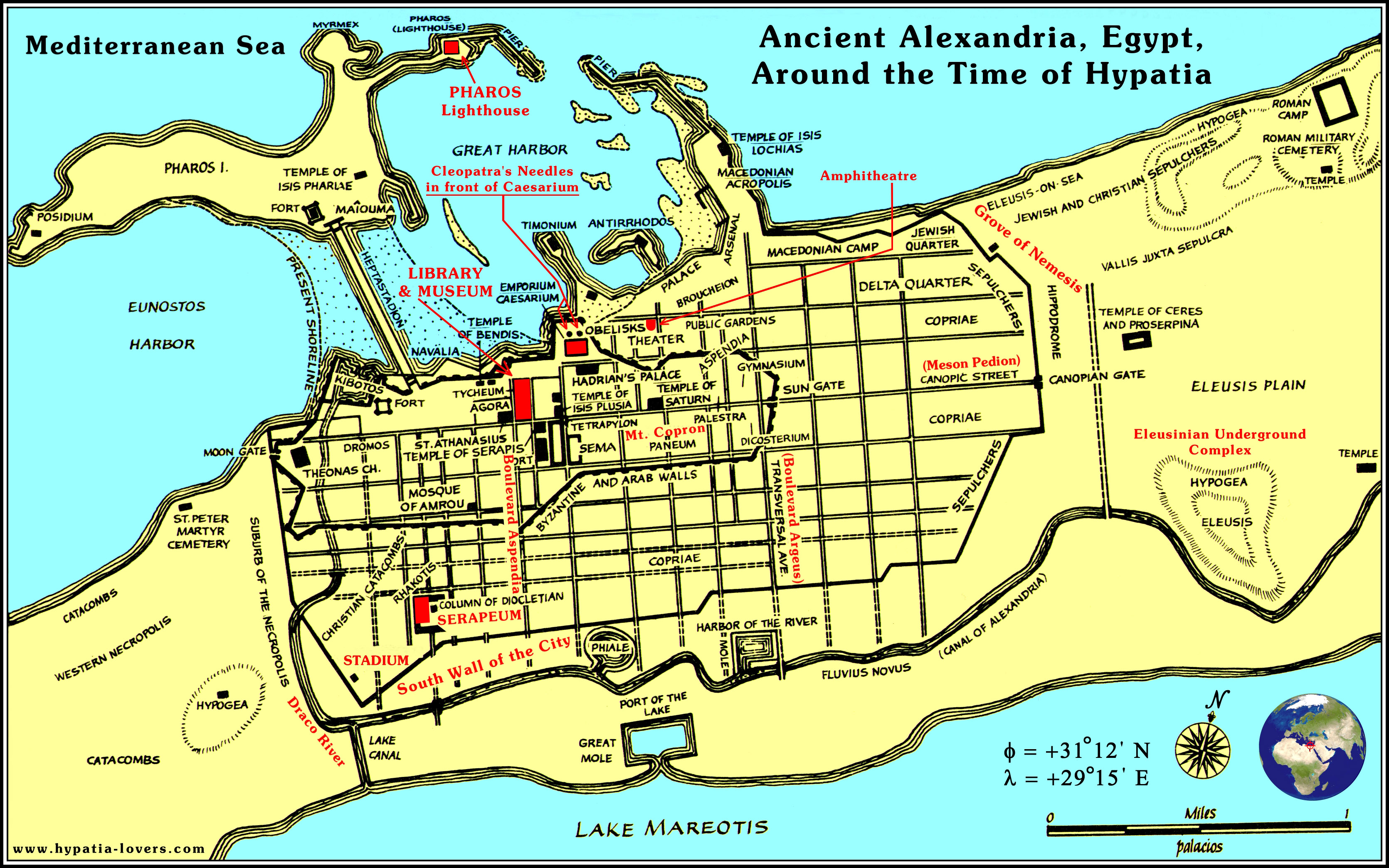 Ancient Alexandria Alexandria Library Pinterest Alexandria - Egypt and rome map